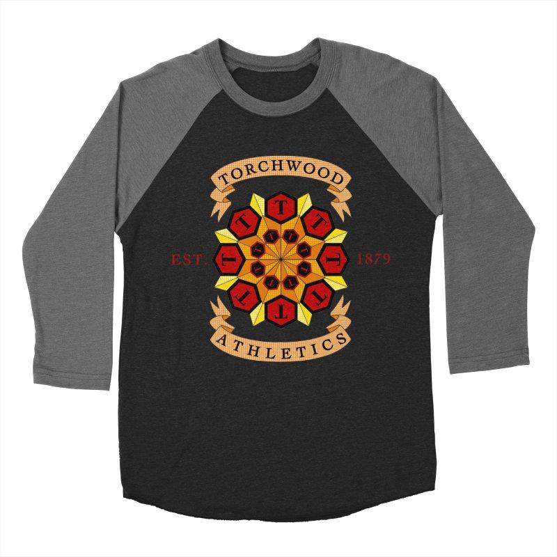 Torchwood Athletics Men's Baseball Triblend Longsleeve T-Shirt by Magickal Vision: The Art of Jolie E. Bonnette