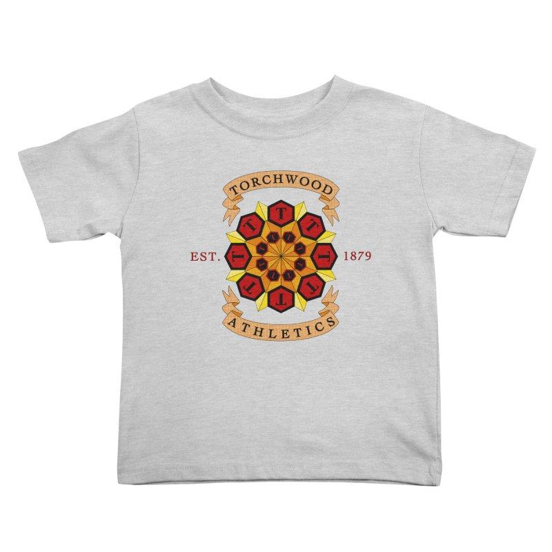 Torchwood Athletics Kids Toddler T-Shirt by Magickal Vision: The Art of Jolie E. Bonnette