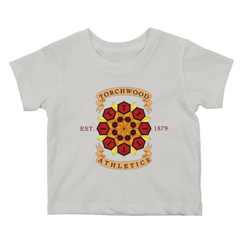 Torchwood Athletics Kids Baby T-Shirt by Magickal Vision: The Art of Jolie E. Bonnette