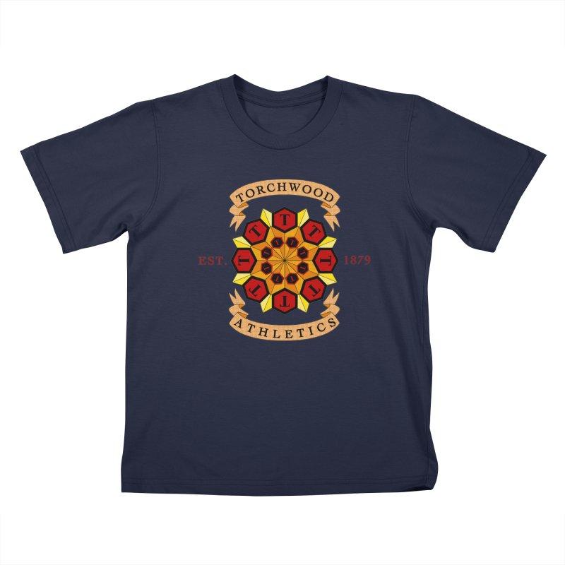 Torchwood Athletics Kids T-Shirt by Magickal Vision: The Art of Jolie E. Bonnette