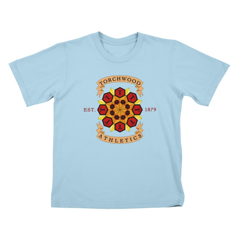 Torchwood Athletics Kids T-Shirt by Magickal Vision: The Art of Jolie E. Bonnette