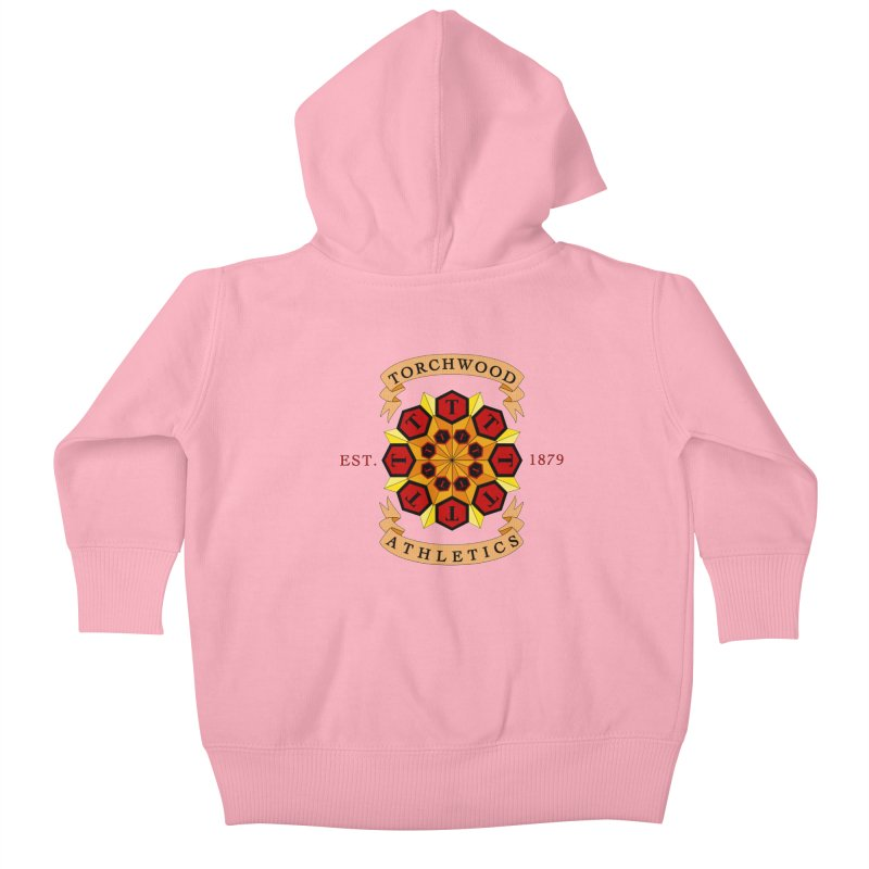 Torchwood Athletics Kids Baby Zip-Up Hoody by Magickal Vision: The Art of Jolie E. Bonnette
