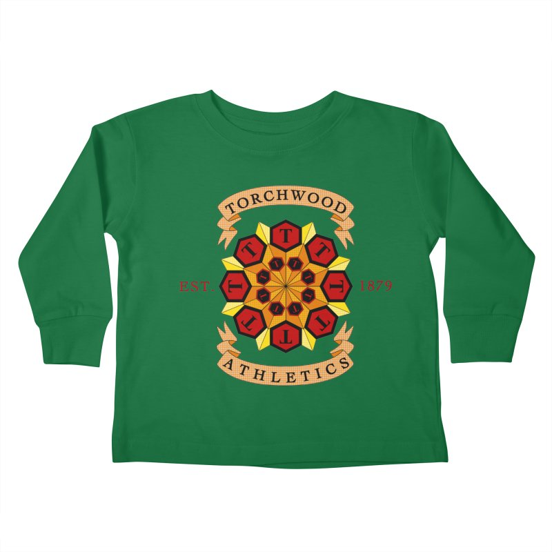 Torchwood Athletics Kids Toddler Longsleeve T-Shirt by Magickal Vision: The Art of Jolie E. Bonnette