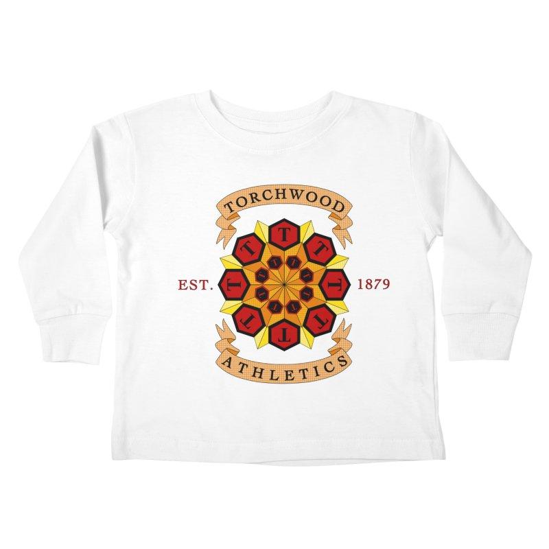 Torchwood Athletics Kids Toddler Longsleeve T-Shirt by Magickal Vision: The Art of Jolie E. Bonnette