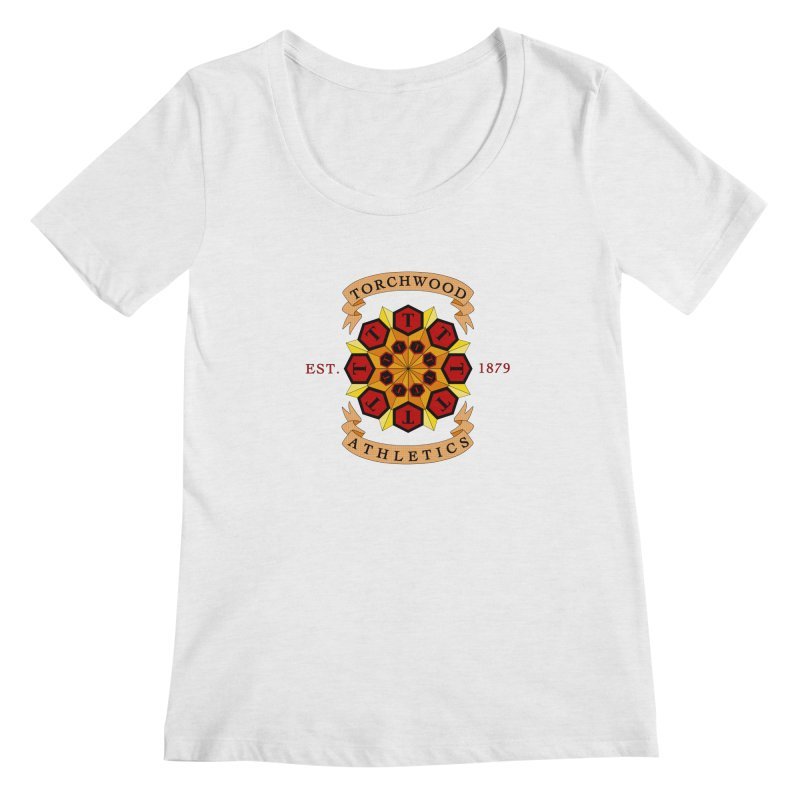 Torchwood Athletics Women's Regular Scoop Neck by Magickal Vision: The Art of Jolie E. Bonnette