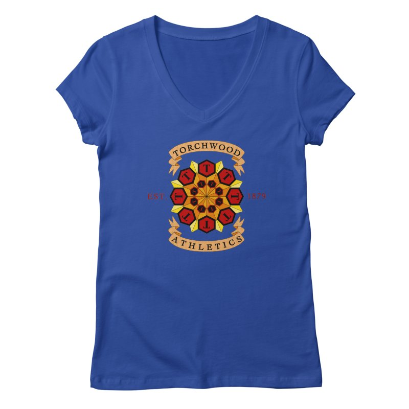 Torchwood Athletics Women's V-Neck by Magickal Vision: The Art of Jolie E. Bonnette