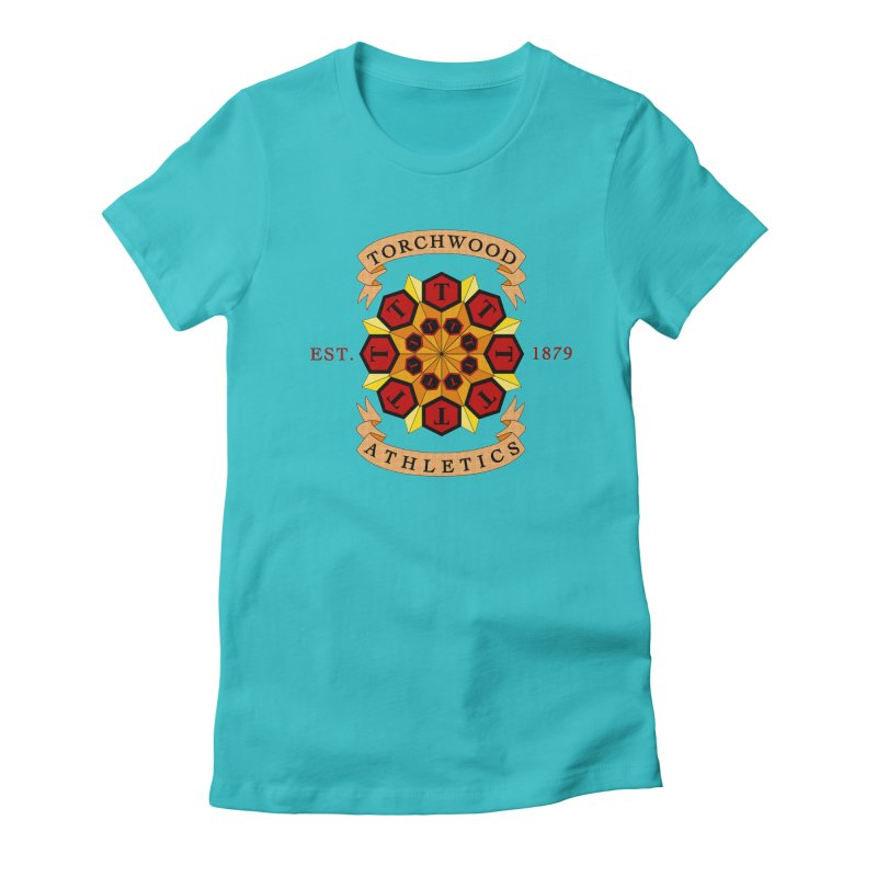 Torchwood Athletics Women's Fitted T-Shirt by Magickal Vision: The Art of Jolie E. Bonnette