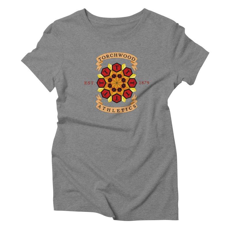 Torchwood Athletics Women's Triblend T-Shirt by Magickal Vision: The Art of Jolie E. Bonnette