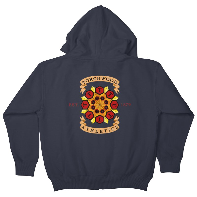 Torchwood Athletics Kids Zip-Up Hoody by Magickal Vision: The Art of Jolie E. Bonnette