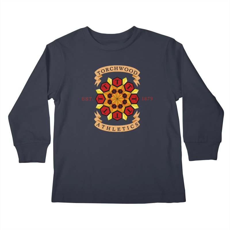 Torchwood Athletics Kids Longsleeve T-Shirt by Magickal Vision: The Art of Jolie E. Bonnette