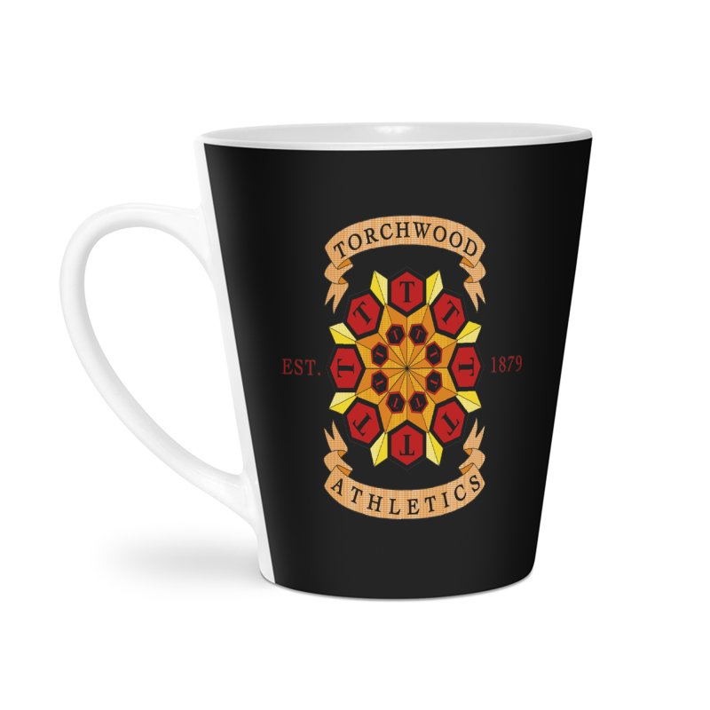 Torchwood Athletics Accessories Latte Mug by Magickal Vision: The Art of Jolie E. Bonnette