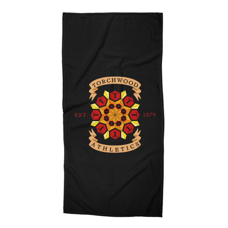 Torchwood Athletics Accessories Beach Towel by Magickal Vision: The Art of Jolie E. Bonnette