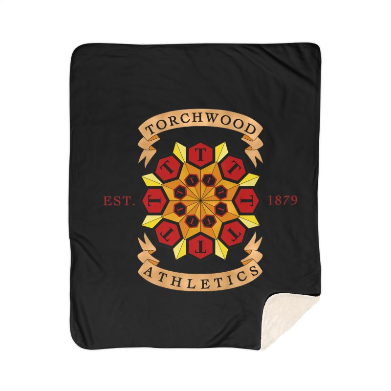 Torchwood Athletics Home Sherpa Blanket Blanket by Magickal Vision: The Art of Jolie E. Bonnette