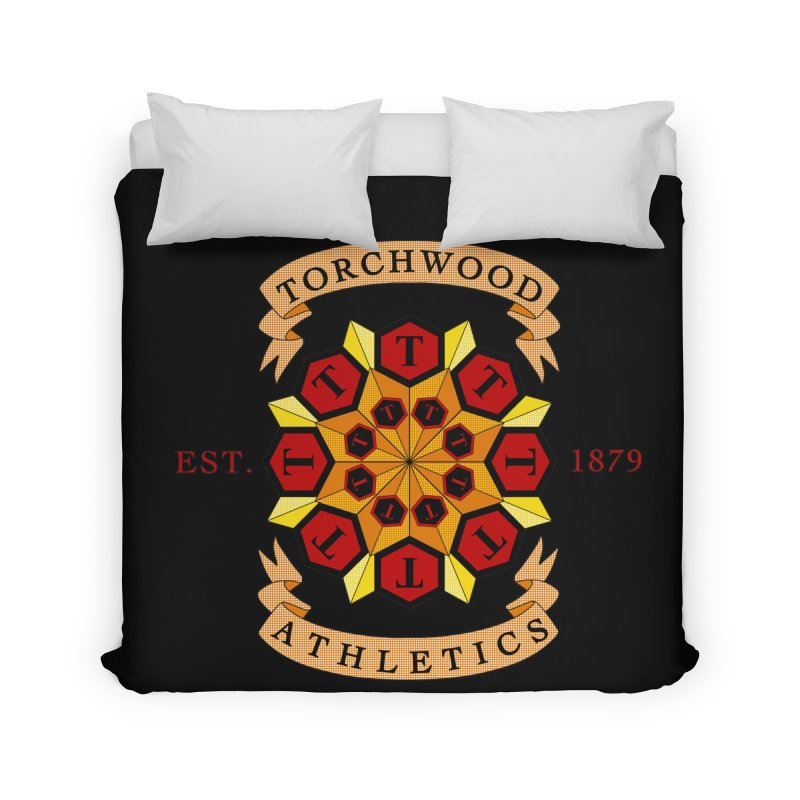 Torchwood Athletics Home Duvet by Magickal Vision: The Art of Jolie E. Bonnette
