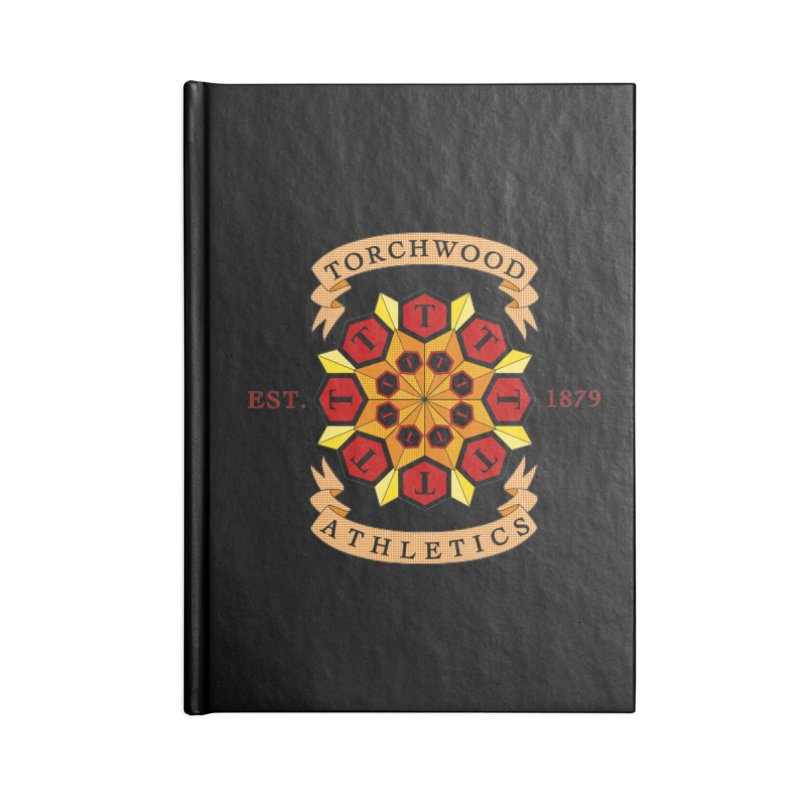 Torchwood Athletics Accessories Lined Journal Notebook by Magickal Vision: The Art of Jolie E. Bonnette