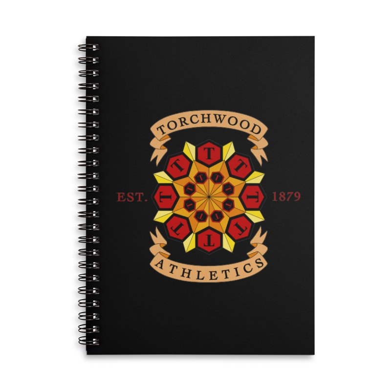Torchwood Athletics Accessories Lined Spiral Notebook by Magickal Vision: The Art of Jolie E. Bonnette
