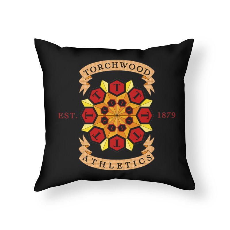 Torchwood Athletics Home Throw Pillow by Magickal Vision: The Art of Jolie E. Bonnette