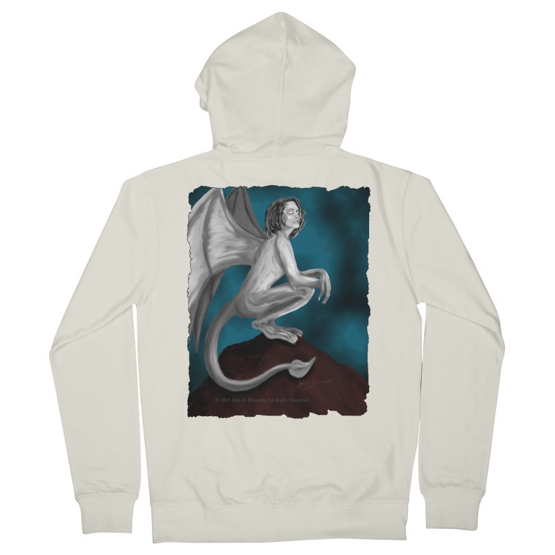 Succubus Dreams Men's French Terry Zip-Up Hoody by Magickal Vision: The Art of Jolie E. Bonnette