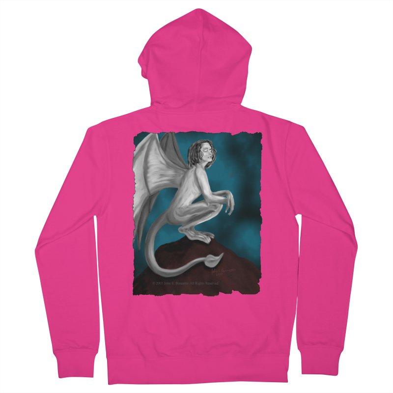 Succubus Dreams Men's French Terry Zip-Up Hoody by Magickal Vision: The Art of Jolie E. Bonnette