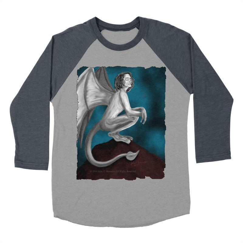 Succubus Dreams Men's Baseball Triblend Longsleeve T-Shirt by Magickal Vision: The Art of Jolie E. Bonnette
