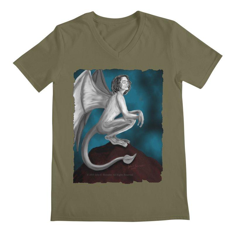 Succubus Dreams Men's Regular V-Neck by Magickal Vision: The Art of Jolie E. Bonnette