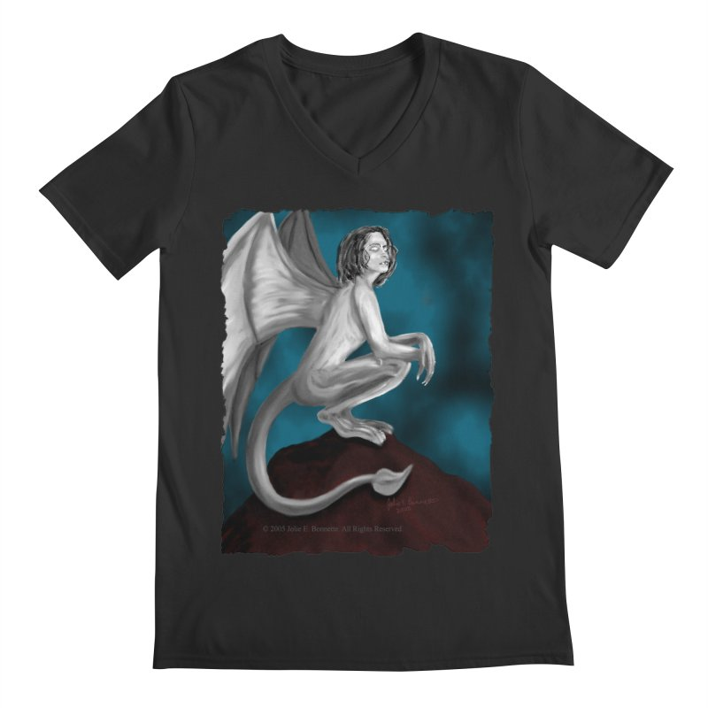 Succubus Dreams Men's V-Neck by Magickal Vision: The Art of Jolie E. Bonnette