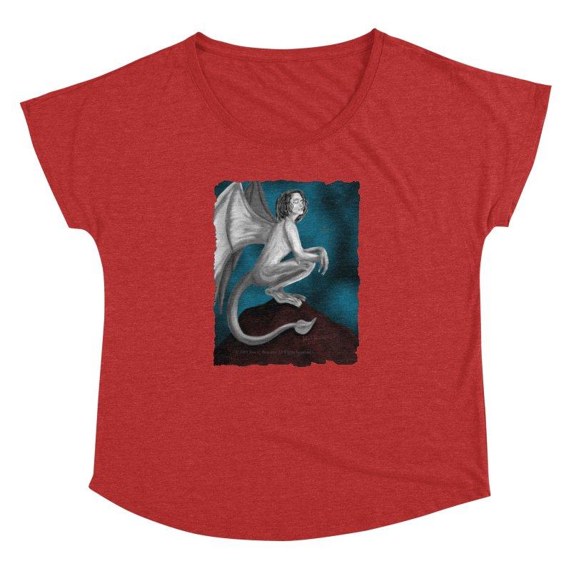 Succubus Dreams Women's Dolman Scoop Neck by Magickal Vision: The Art of Jolie E. Bonnette