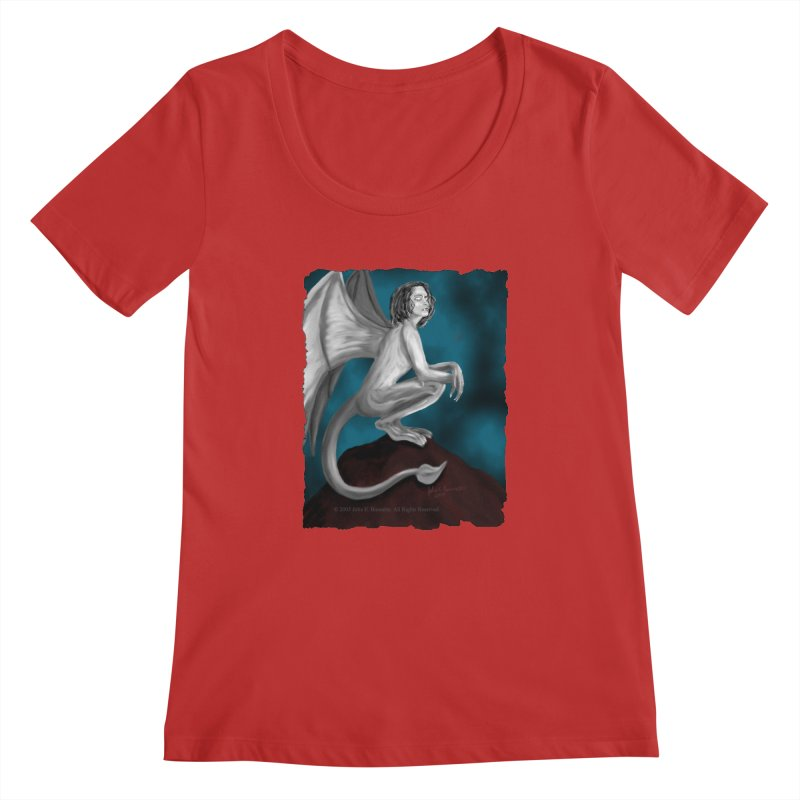 Succubus Dreams Women's Regular Scoop Neck by Magickal Vision: The Art of Jolie E. Bonnette