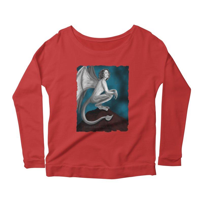 Succubus Dreams Women's Scoop Neck Longsleeve T-Shirt by Magickal Vision: The Art of Jolie E. Bonnette