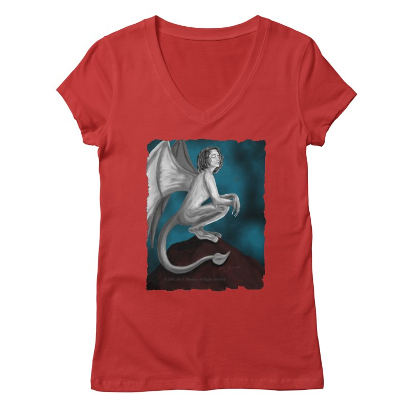 Succubus Dreams Women's V-Neck by Magickal Vision: The Art of Jolie E. Bonnette