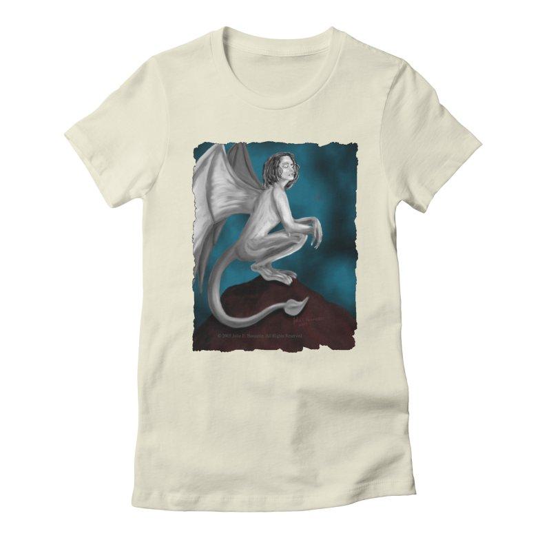Succubus Dreams Women's Fitted T-Shirt by Magickal Vision: The Art of Jolie E. Bonnette
