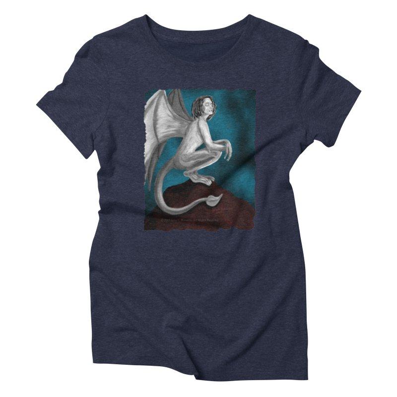 Succubus Dreams Women's Triblend T-Shirt by Magickal Vision: The Art of Jolie E. Bonnette