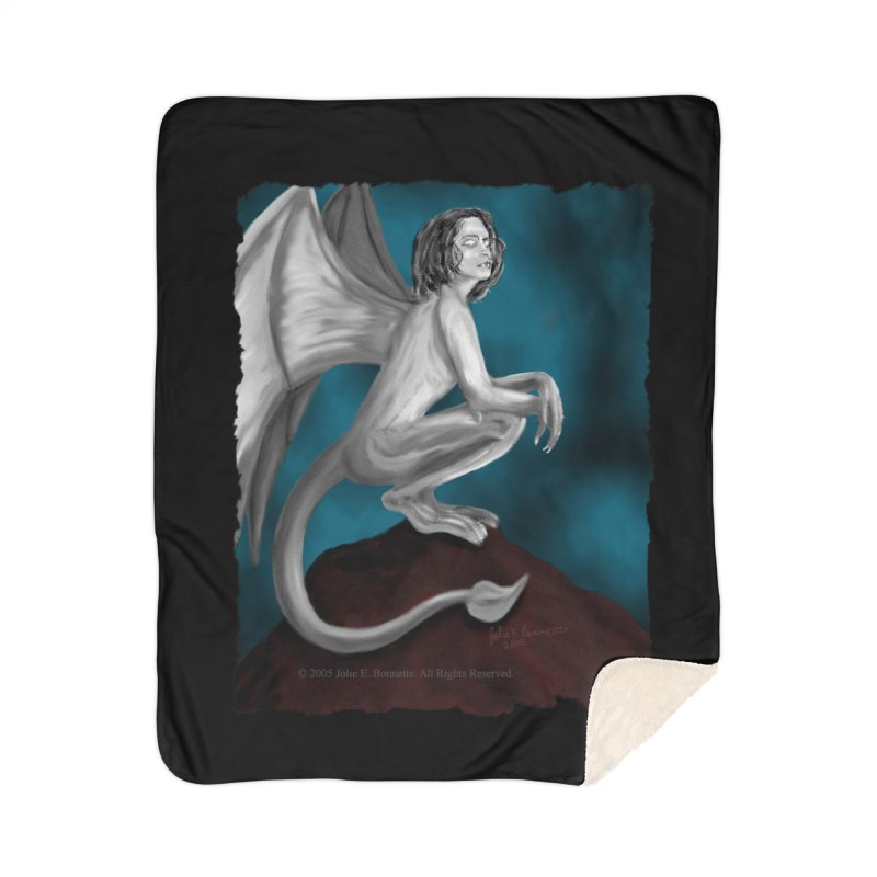 Succubus Dreams Home Sherpa Blanket Blanket by Magickal Vision: The Art of Jolie E. Bonnette