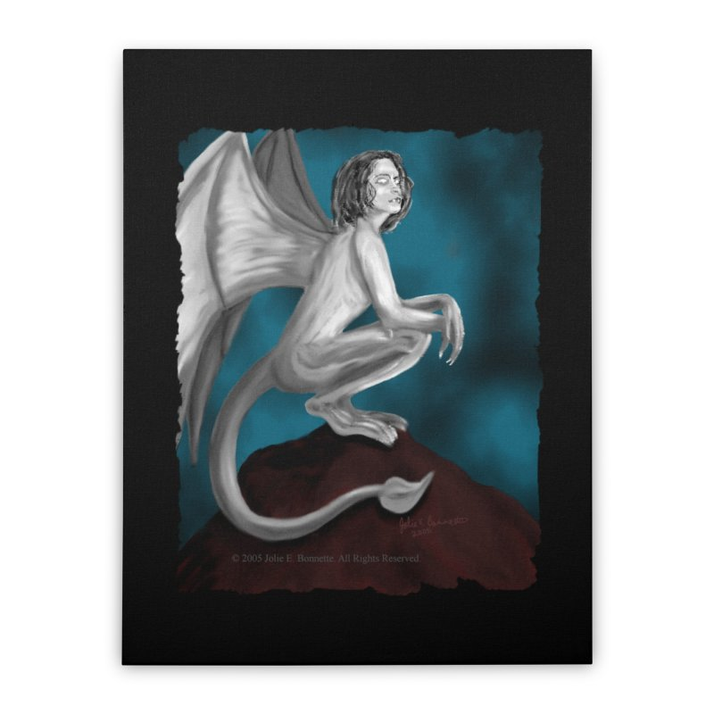 Succubus Dreams Home Stretched Canvas by Magickal Vision: The Art of Jolie E. Bonnette