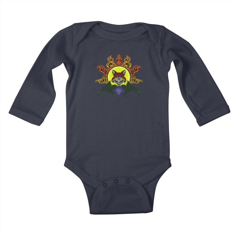 Fox Trybe Kids Baby Longsleeve Bodysuit by Magickal Vision: The Art of Jolie E. Bonnette