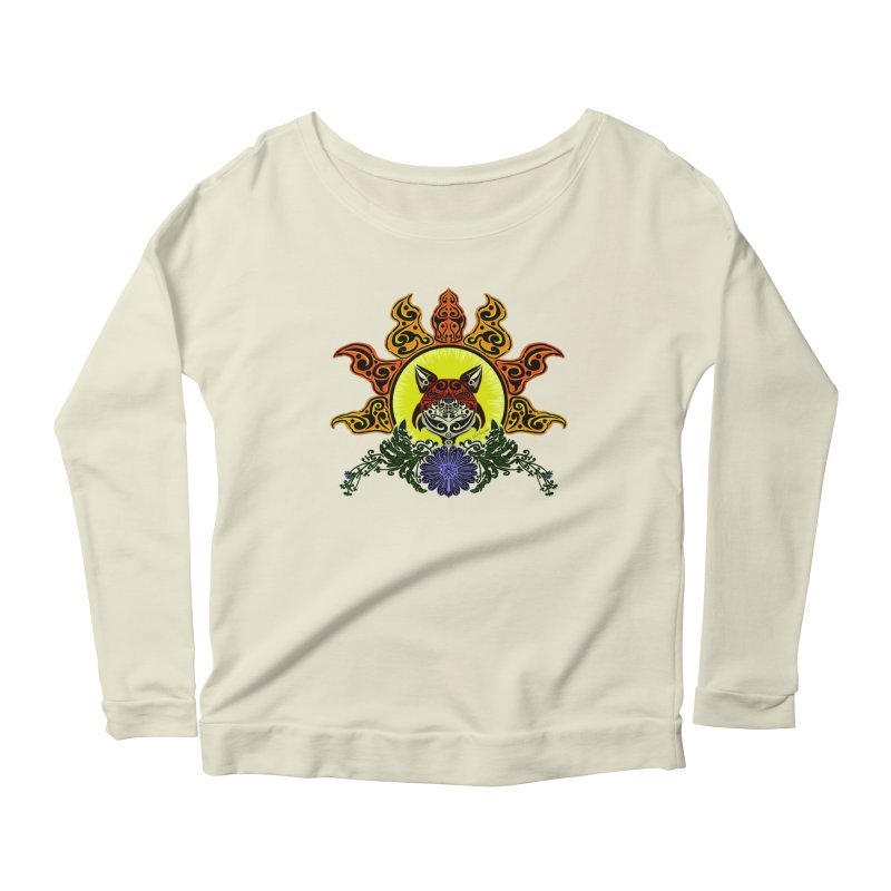 Fox Trybe Women's Longsleeve Scoopneck  by Magickal Vision: The Art of Jolie E. Bonnette