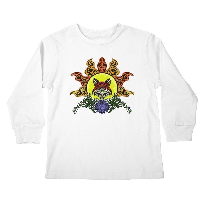 Fox Trybe Kids Longsleeve T-Shirt by Magickal Vision: The Art of Jolie E. Bonnette