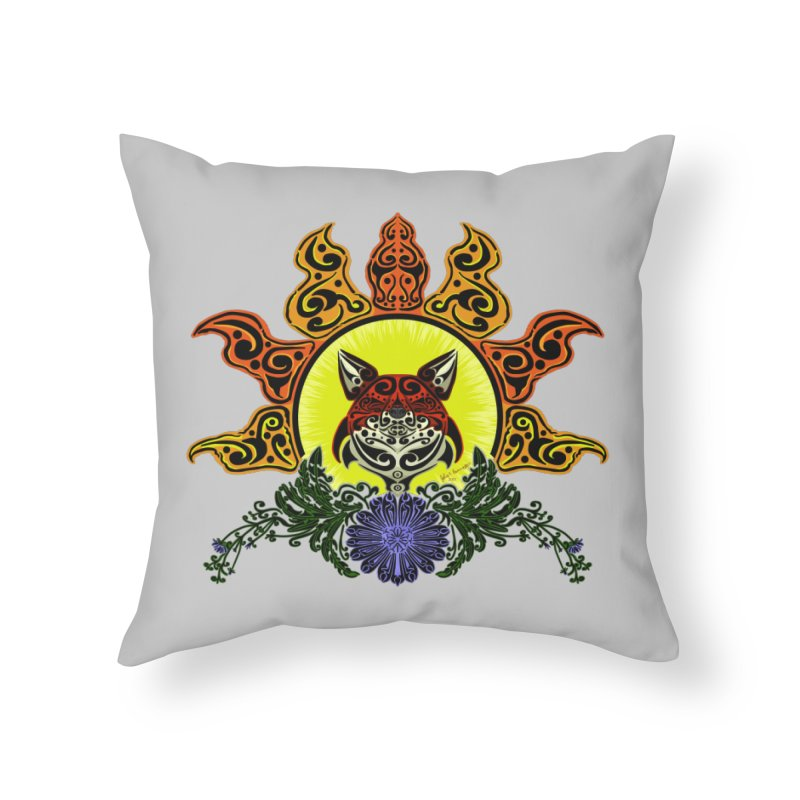 Fox Trybe Home Throw Pillow by Magickal Vision: The Art of Jolie E. Bonnette