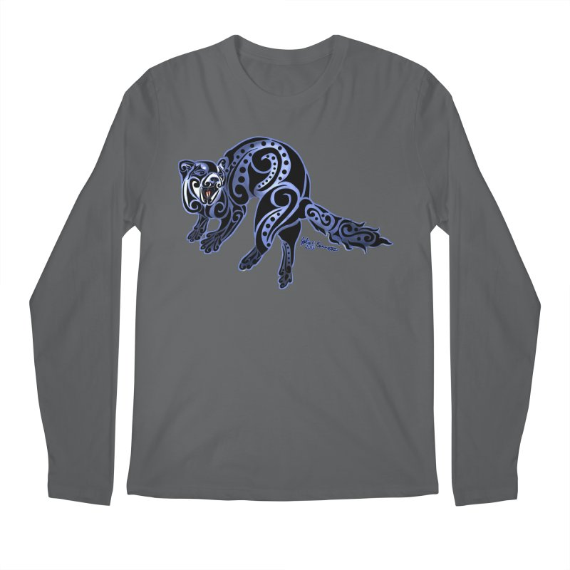 Ferret Trybe: War Dance! Men's Longsleeve T-Shirt by Magickal Vision: The Art of Jolie E. Bonnette