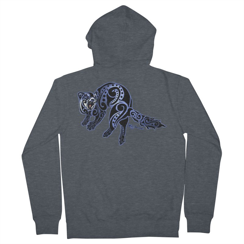 Ferret Trybe: War Dance! Women's Zip-Up Hoody by Magickal Vision: The Art of Jolie E. Bonnette