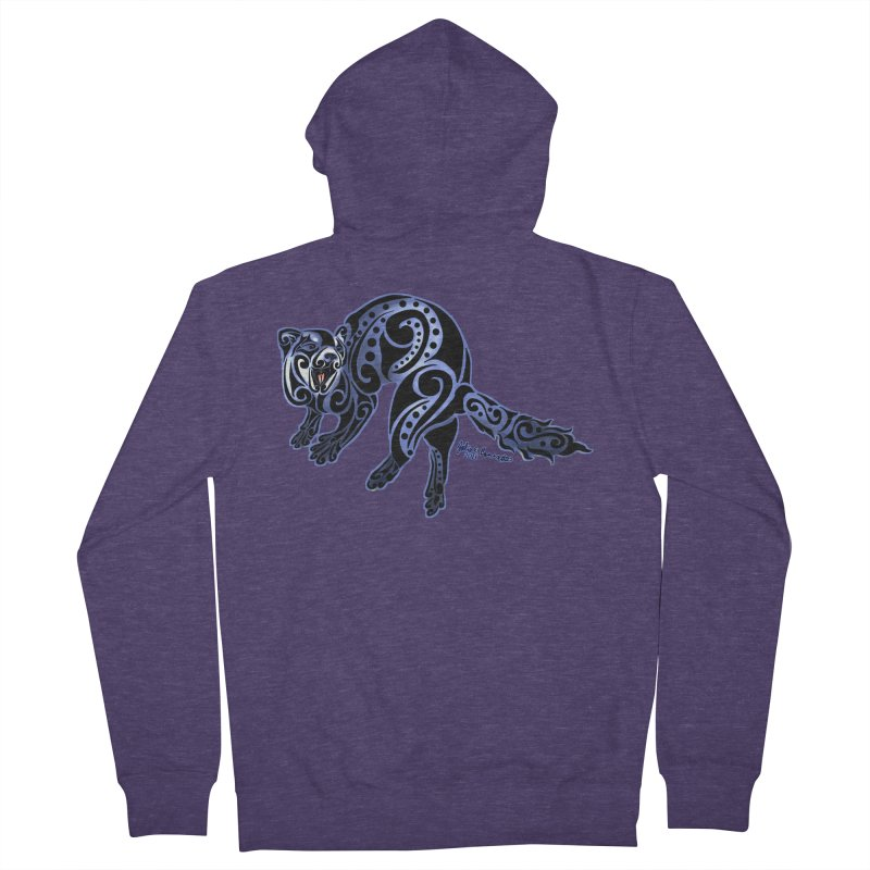 Ferret Trybe: War Dance! Men's Zip-Up Hoody by Magickal Vision: The Art of Jolie E. Bonnette