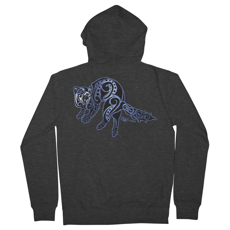 Ferret Trybe: War Dance! Men's French Terry Zip-Up Hoody by Magickal Vision: The Art of Jolie E. Bonnette