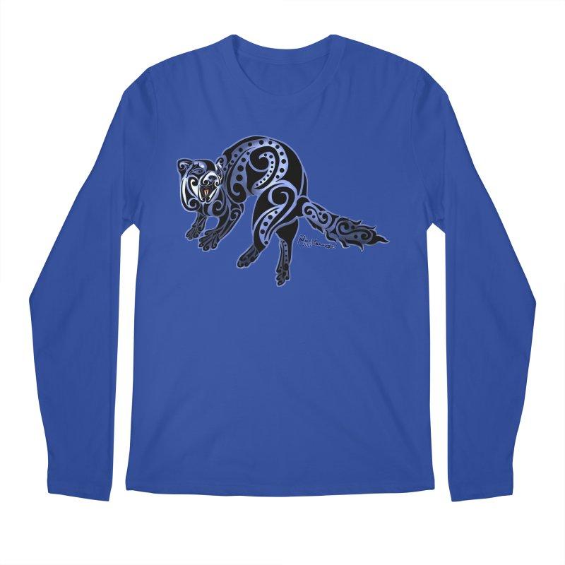 Ferret Trybe: War Dance! Men's Regular Longsleeve T-Shirt by Magickal Vision: The Art of Jolie E. Bonnette