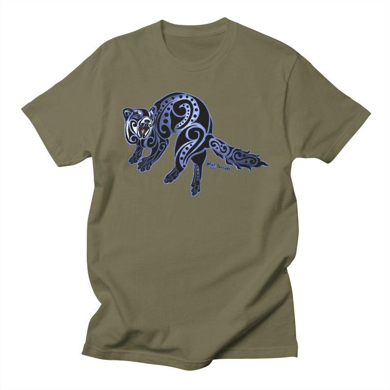 Ferret Trybe: War Dance! Men's Regular T-Shirt by Magickal Vision: The Art of Jolie E. Bonnette