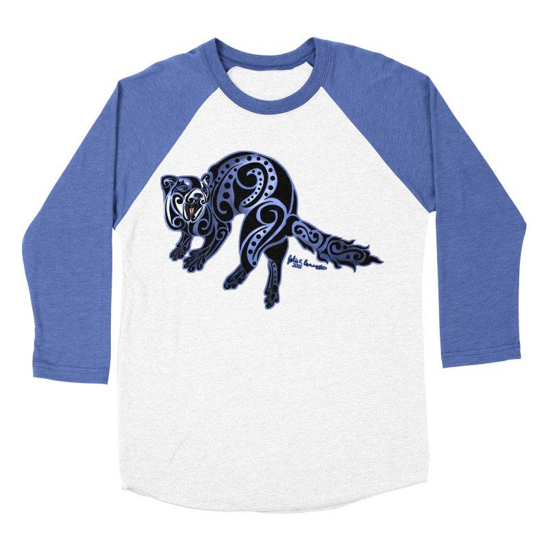 Ferret Trybe: War Dance! Women's Baseball Triblend Longsleeve T-Shirt by Magickal Vision: The Art of Jolie E. Bonnette