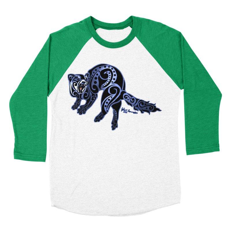 Ferret Trybe: War Dance! Men's Baseball Triblend Longsleeve T-Shirt by Magickal Vision: The Art of Jolie E. Bonnette
