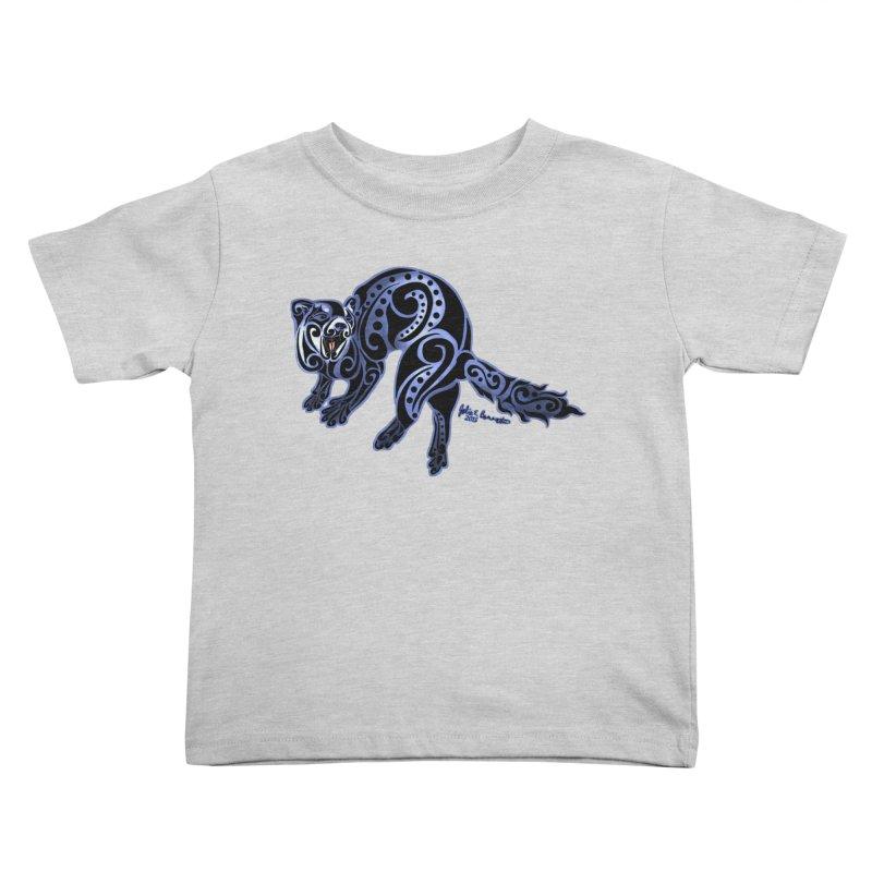 Ferret Trybe: War Dance! Kids Toddler T-Shirt by Magickal Vision: The Art of Jolie E. Bonnette
