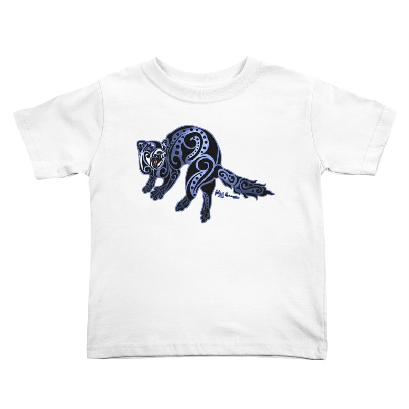Ferret Trybe: War Dance! Kids Toddler T-Shirt by Magickal Vision: The Art of Jolie E. Bonnette