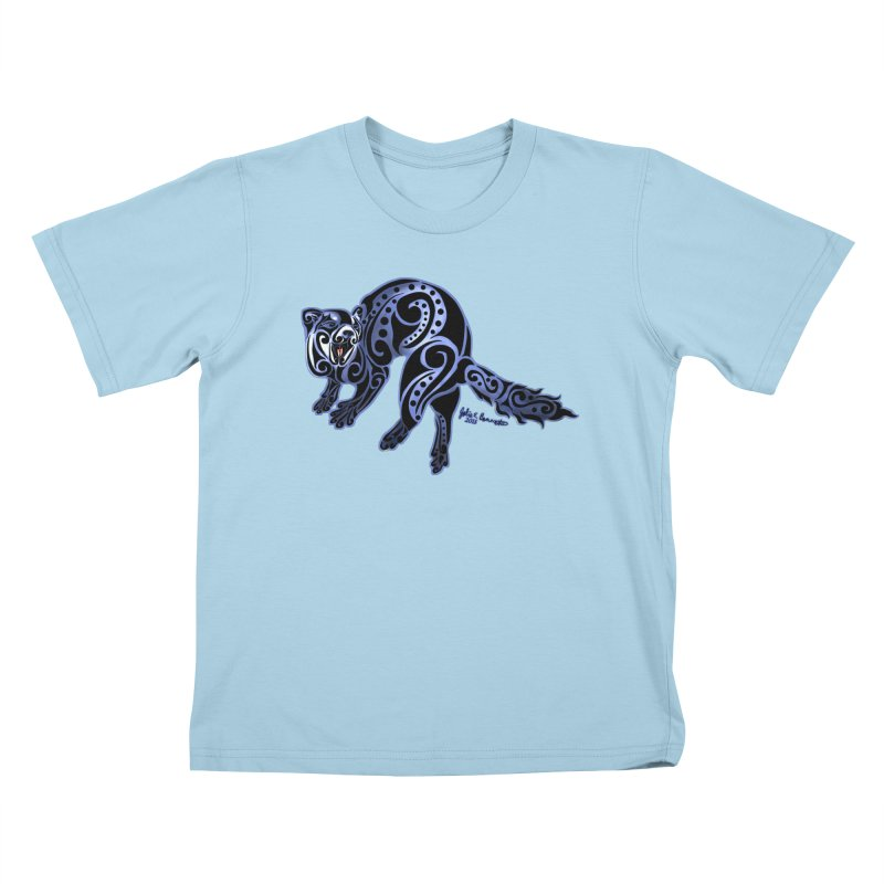 Ferret Trybe: War Dance! Kids T-Shirt by Magickal Vision: The Art of Jolie E. Bonnette
