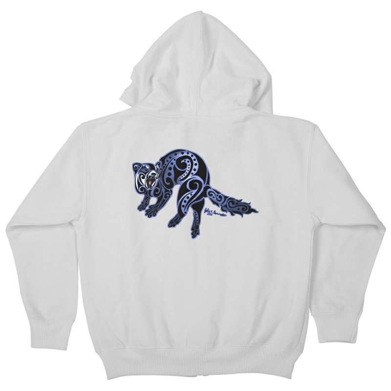 Ferret Trybe: War Dance! Kids Zip-Up Hoody by Magickal Vision: The Art of Jolie E. Bonnette